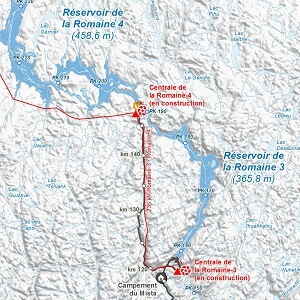 Maps for the Eastmain-Sarcelle-Rupert and La Romaine Hydroelectric Complexes