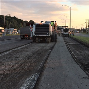 Charest Highway (Highway 440): Levelling, asphalting, marking and other work